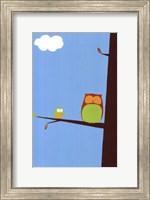 Framed Tree-top Owls II