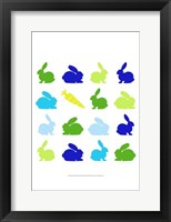 Animal Sudoku in Blue II Framed Print