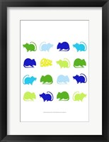 Animal Sudoku in Blue V Framed Print