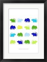 Framed Animal Sudoku in Blue V