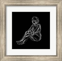 Framed Figure Study on Black I