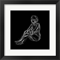 Framed Figure Study on Black I