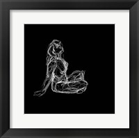 Framed Figure Study on Black II