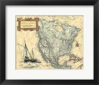 Framed N.America Map