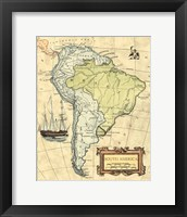 Framed S.America Map