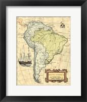 Framed S.America Map