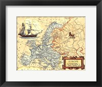 Framed Europe Map
