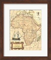 Framed Africa Map