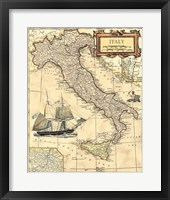 Framed Italy Map