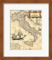 Framed Italy Map