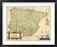 Framed Spain Map