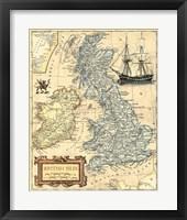 Framed British Isles Map