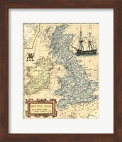 Framed British Isles Map