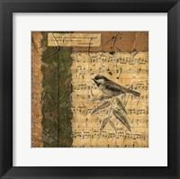 Framed Bird Melody I