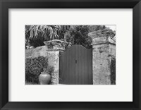 Framed Old Bermuda Gate I