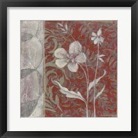 Taupe and Cinnabar Tapestry III Framed Print