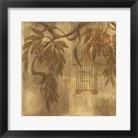 Framed Wisteria Vines II