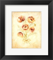 Framed Textured Bouquet III
