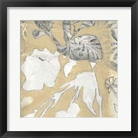 Neutral Garden Abstract I Framed Print