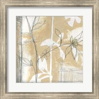 Framed Neutral Garden Abstract IV