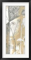 Framed Neutral Garden Abstract VI