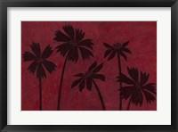 Framed Scarlet Silhouettes I