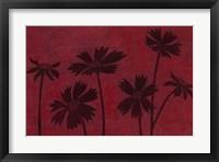 Framed Scarlet Silhouettes II