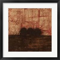 Weathered Landscape I Framed Print