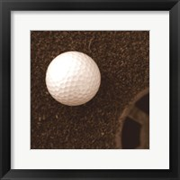 Framed Sepia Golf Ball Study I