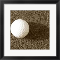 Framed Sepia Golf Ball Study III
