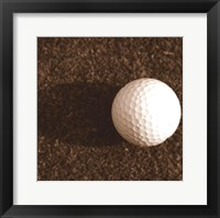 Framed Sepia Golf Ball Study IV