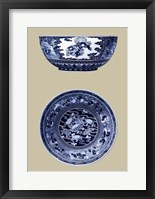 Framed Porcelain in Blue and White I