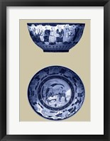 Framed Porcelain in Blue and White II