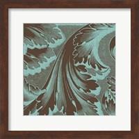 Framed Azure Acanthus I