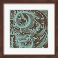 Framed Azure Acanthus II
