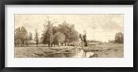 Framed Meadow Brook Sepia