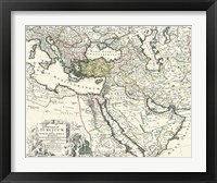Framed Map of Europe, Asia and Africa
