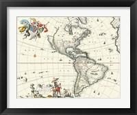 Framed Map of America