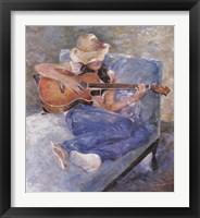 Framed Tessa's Guitar