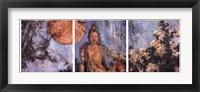 Framed Guanyin Triptypch