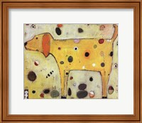 Framed Yellow Dog