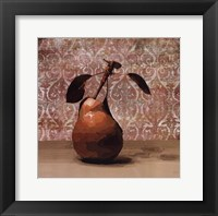 Framed Pear and Patterns