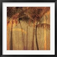 Framed Sunset Palms I