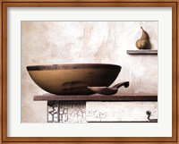 Framed Bowl and Pear