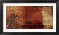Safari Sunset II Framed Print