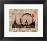 Destination Paris IV Framed Print