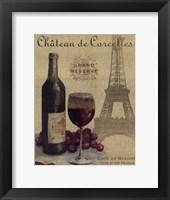 Framed Travel Wine I