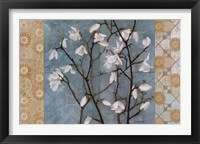Framed Patterned Magnolia Branch