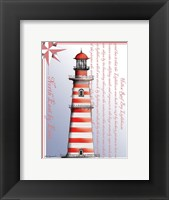 Hollow Reef Bay Lighthouse Framed Print