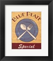 Framed Blue Plate Special